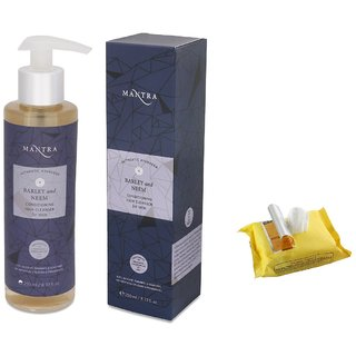 Mantra Barley And Neem Conditioning Hair Cleanser For Men (250 ml) with Face Wipes