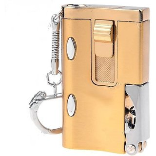 New pinch multifuntion  6 in 1 lighter gold