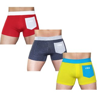 IC4 Men's Boxer Trunk T-266 Combo Pack of 3