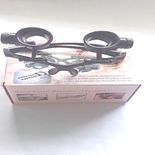 EYE JEWELRY WATCH REPAIR MAGNIFIER GLASSES WITH 2 LED LIGHT NO 9892G8KX
