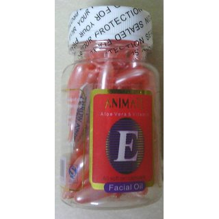 Aloe Vera And Vitamin E Capsules Facial 60 Soft Gel Capsules
