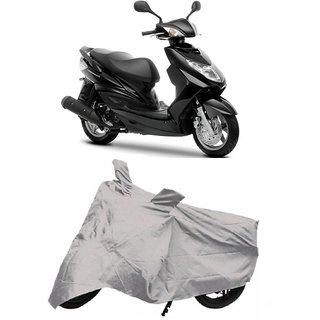 De Autocare Premium Quality Silver Matty Two Wheeler Scooty Body Cover For Yamaha Cygnus