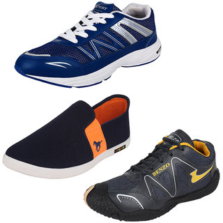 Bersache Men/Boys Combo pack of 3 Sports Shoe With Casual Loafer Shoe