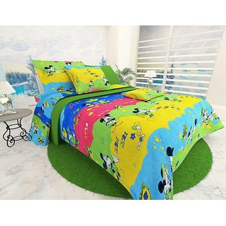 Choco Mickey 3D Double Bedsheet Pack Of 1