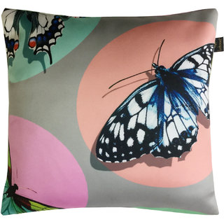 Lushomes Kids Butterflies Digital Printed Cushion Cover with top white invisible zipper (16 x 16 Single Pc)