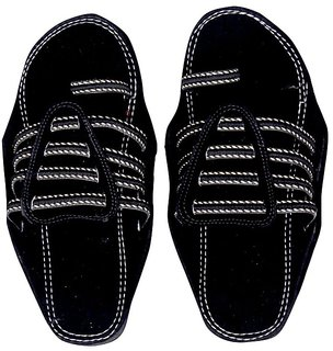 Panahi Men's Black Party Wear Ethnic Kolhapuri Chappal