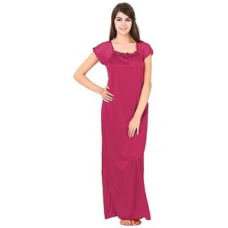Aloof Women Satin Night Dress