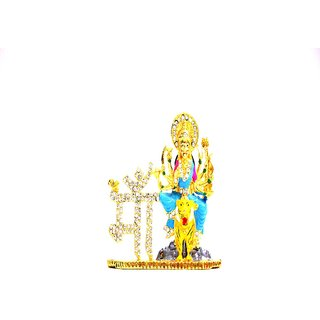 Ultimate Lord  Durga Car Dashboard Brass Idols for Car and Also for home Decor