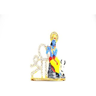 Ultimate Lord  Krishna Car Dashboard Brass Idols for Car and Also for home Decor