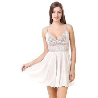 Aloof Women's Satin Nighty Free Size