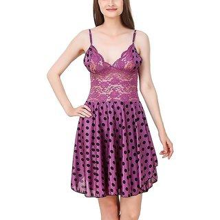 Aloof Women's Satin Nightdress Nightwear