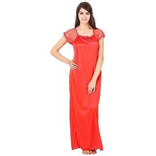 Aloof Women Satin Night Dress