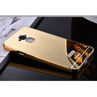 Luxury Metal Bumper + Acrylic Mirror Back Cover Case For coolpad note 3