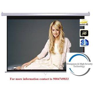 Screen Technics 5 x 7 instalock projector screen Super Delux fabric HD 3D Technology Supports