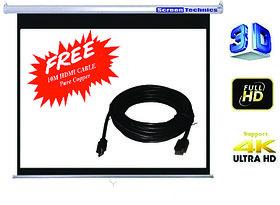 Screen Technics 4 X 6 Instalock Projector Screen Deluxe fabric