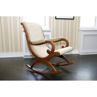 Shilpi Hand Carved Rocking Chair (Pure Sheesham Rose Wood)