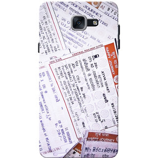 Galaxy J7 Max Case, Galaxy On Max Case, Ticket Pattern Slim Fit Hard Case Cover/Back Cover for Samsung Galaxy J7 Max