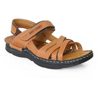d83d0ce8aecf Buy Red Chief Tan Men Casual Leather Velcro Sandal (RC0579 107 ...