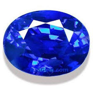 6.25 Ratti Neelam Stone Original Natural Blue Sappire  Gemstone By Lab  Certifiired