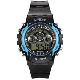 Sports Multi Color Light Digital Blue Wrist Watch