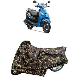 De Autocare Premium Quality Junglee Matty Two Wheeler Scooty Body Cover For TVS Wego