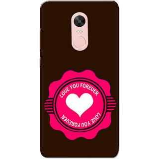 Redmi Note 4, Redmi Note 4X Case, Love Stamp  Slim Fit Hard Case Cover/Back Cover for Redmi Note 4/Redmi Note 4X - Valentines day gift