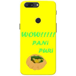 OnePlus 5T Case, Wow Pani Puri Yellow Slim Fit Hard Case Cover/Back Cover for One Plus 5T