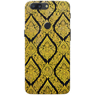 OnePlus 5T Case, Golden Sculpture Namaste Pattern Slim Fit Hard Case Cover/Back Cover for One Plus 5T