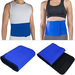 HealthIQ Waist Trimmer Slimming Belt (Blue)