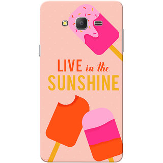 Galaxy On7 Case, Galaxy On7 Pro Case, Live In The Sunshine Slim Fit Hard Case Cover/Back Cover for Samsung Galaxy On 7/On7 Pro