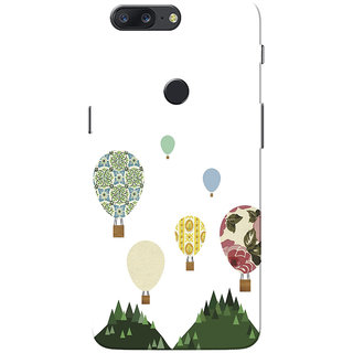 OnePlus 5T Case, Vintage Hot Air Balloon Design Slim Fit Hard Case Cover/Back Cover for One Plus 5T