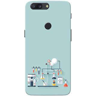 OnePlus 5T Case, Chemistry Lab Sky Blue Slim Fit Hard Case Cover/Back Cover for One Plus 5T