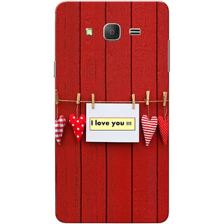 Galaxy On7 Case, Galaxy On7 Pro Case, Clip Heart Love You  Slim Fit Hard Case Cover/Back Cover for Samsung Galaxy On 7/On7 Pro - Valentines day gift