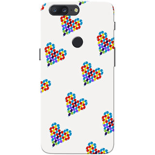 OnePlus 5T Case, Balloon Heart Light Grey Slim Fit Hard Case Cover/Back Cover for One Plus 5T