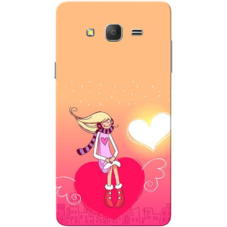Galaxy On7 Case, Galaxy On7 Pro Case, Girl Angel Heart  Slim Fit Hard Case Cover/Back Cover for Samsung Galaxy On 7/On7 Pro - Valentines day gift