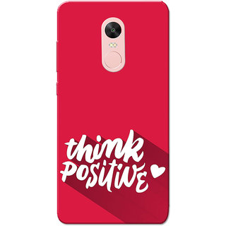 Redmi Note 4, Redmi Note 4X Case, Pink Think Positive Slim Fit Hard Case Cover/Back Cover for Redmi Note 4/Redmi Note 4X