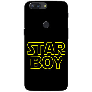 OnePlus 5T Case, StarBoys Yellow Black Slim Fit Hard Case Cover/Back Cover for One Plus 5T