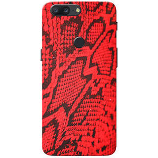 official photos c1296 1687c OnePlus 5T Case, Snake Skin Red Pattern Slim Fit Hard Case Cover/Back Cover  for One Plus 5T