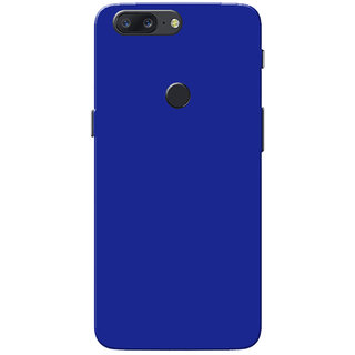 cheap for discount cf5a0 e3512 OnePlus 5T Case, Dark Blue Plain Colour Slim Fit Hard Case Cover/Back Cover  for One Plus 5T