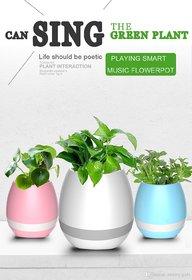 Style Maniac Smart LED Music Flower Pots Bluetooth Speaker Play The Piano Decoration Planter Night Light Touch Sensors F