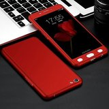 Oppo A83 Red Colour 360 Degree Full Body Protection Front Back Case Cover Standard Quality