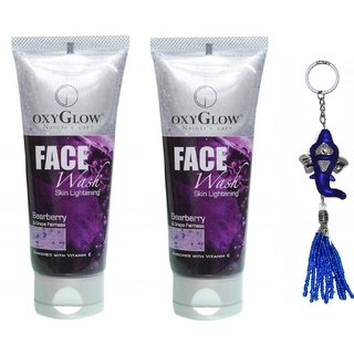 Oxyglow Bearberry Grape Face Wash 2x100g (Pack of 2) + Free Stylos Ganesh Key Chain Worth 199