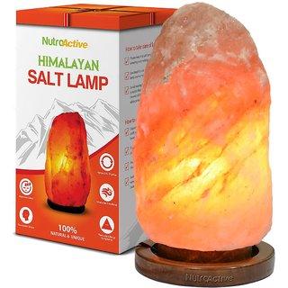 NutroActive Himalayan Rock Salt Table Lamp 4-5 kg with 4 Bulbs Electric Cord