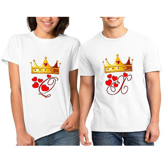 King Queen V Couple Combo Tshirts