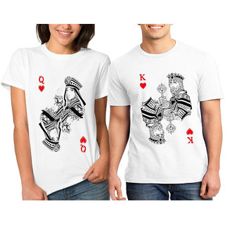 King Queen Card I Couple Combo Tshirts