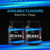 INLIFE BCAA Branched Chain Amino Acids 7 g with L-Glutamine, for Men Women - 450 grams Orange Flavour