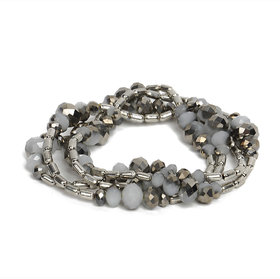 The Pari Fashionable Grey And Silver Bracelets (br-101)
