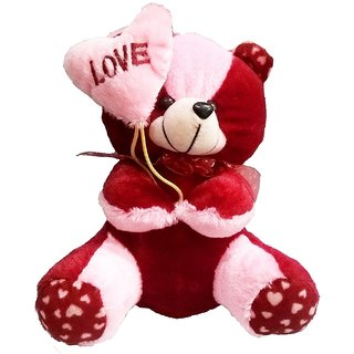 Atorakushon Heart Balloon Teddy Soft Teddy Bear Love Valentine Couple Birthday Gift