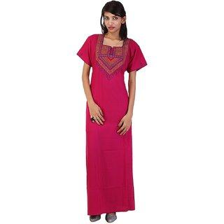 175335a484 Valencia Sleepwear Women s Embroidery Night Gown Nighty Maxi Nightwear  Lizzybizzy cotton