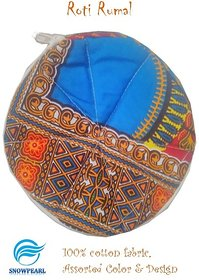 Snowpearl Roti/Chapati Covers , Traditional Roti Rumals - Pure Cotton Cover, Assorted Color  Design (Set of 1, Round)